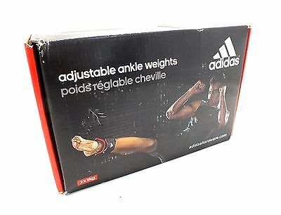 ADIDAS Adjustable Ankle Weights for Resistance Training - 2x 2kg Weights - H30