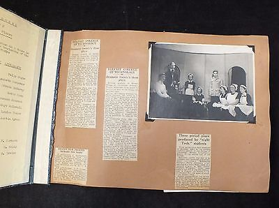 Vintage SCRAPBOOK with clippings and photographs Dramatic Society Belfast - C59