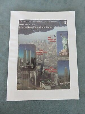 New York City Collectible Phone Cards Set International Telephone Cards