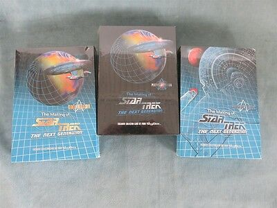 Star Trek Making of TNG Collectors/Platinum/Gold/Regular Trading Cards 3 Box Set
