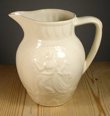 Leedsware Classical Creamware Seated Woman Jug