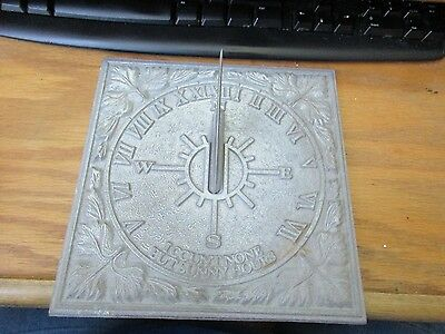 Vintage Whitehall Products Sundial I COUNT NONE BUT SUNNY HOURS GUC Metal