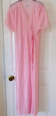 Vintage Pink Nylon Negligee Gown Size 14 - 16