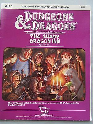 TSR-1983,dungeons and dragons The Shady Dragon Inn booklet