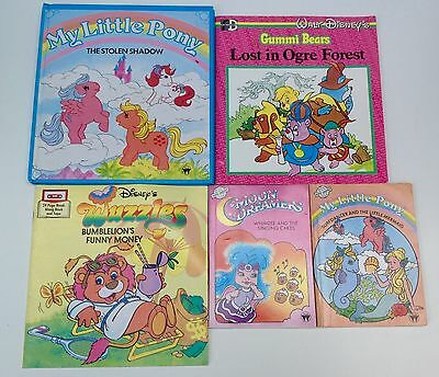 Vintage 1980's Books-My Little Pony,Moon Dreamers,Wuzzles,Gummi Bears.