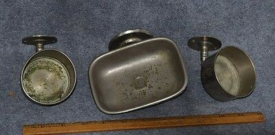 soap dish cup holder sink fixture  nickel  1920 hardware antique best