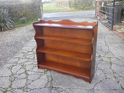 Bookcase: Lovely very clean condition open fronted quality made ornate bookcase
