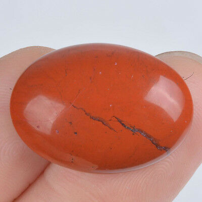 w64786 25mm Red flame jasper oval cab cabochon