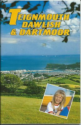 TEIGNMOUTH DAWLISH 1988 Official Holiday Guide & street map illustrated adverts