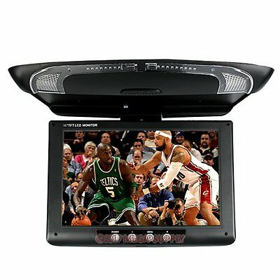 "11"" HD Flipdown Pulldown Monitor Campervan/car 2CH AV In IR For DVD Player"