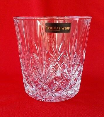 THOMAS WEBB Crystal ROMEO Old Fashioned Whisky Glass / Tumbler ~ Brand New