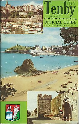 TENBY c1961 Official Holiday Guide information MAP photographs adverts history