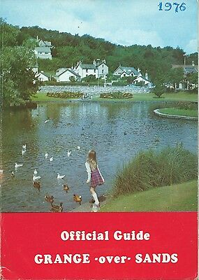 GRANGE OVER SANDS 1976 Official Holiday Guide & street map illustrated & adverts