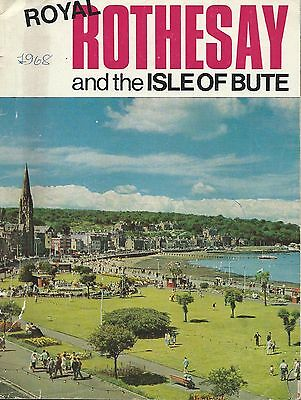 ROTHESAY & ISLE OF BUTE Official Guide 1967-8 history info illustrated adverts