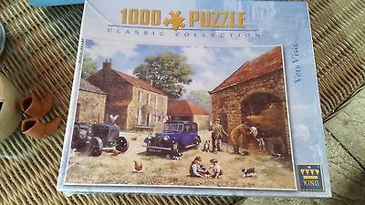 """""""VETS VISIT"""" 1000 PIECE JiGSAW PUZZLE  BY KING BRAND NEW RETAIL SEALED"""