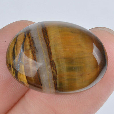 w64785 25mm Golden tiger eye oval cab cabochon