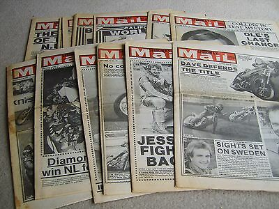 13 1982 Speedway Mail newspapers, July Aug' & Sep' Volume 10 issues