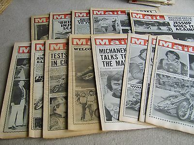 14 1980 Speedway Mail newspapers, April-July Volume 8 issues
