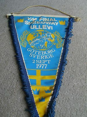 1977 Swedish Pennant from the World Individual Speedway Championships