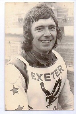 1970's Kevin Holden of Exeter Speedway HAND SIGNED photograph