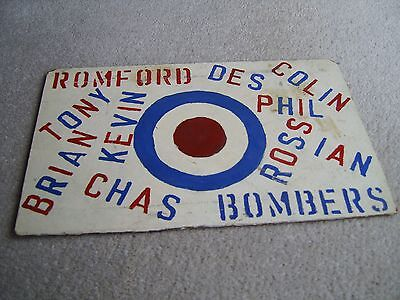 Homemade 1960's-70's Romford Bombers Speedway team supporters piece