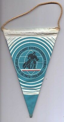 1973 Souvenir Pennant from the World Speedway Championships in Poland