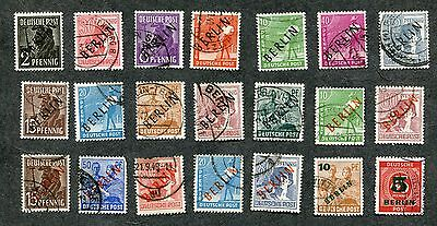 Stamp Lot Of 1948-49 Germany, Berlin Overprints, With Better ($130+)