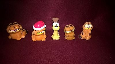 1978-81 Hard Rubber Garfield Figurines And Pencil Toppers