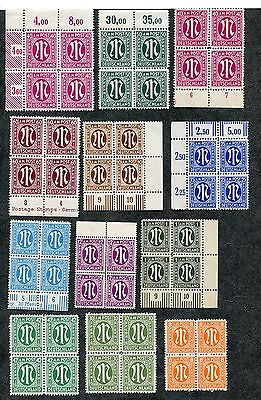 Stamp Lot Of 1945-46 Germany A.m.g. Issues, Mnh (2 Scans) Blocks Of 4 , 2 Strips