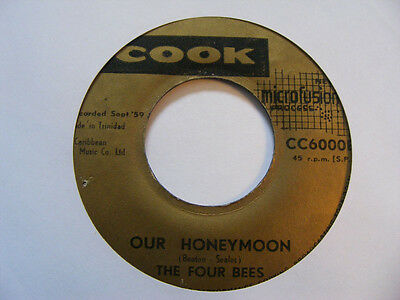 """THE FOUR BEES Come Back Melvina Cook 59 Trinidad  7"""""""