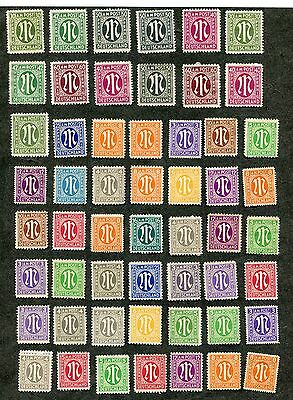 Stamp Lot Of 1945-46 Germany, A.m.g. Issues, Mh (3 Scans)