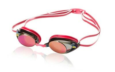 Speedo Competitive Women's Vanquisher 2.0 Mirrored Anti-Fog Swim Goggles - Ruby