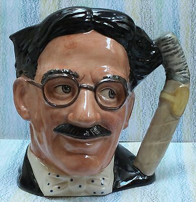 """Royal Doulton Character Jug Groucho Marx 7"""" D6710 Celebrity Collection"""