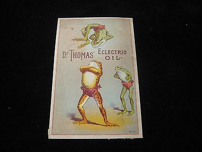1800's Dr. Thomas' Electrio Oil Diapered Frog Effort PA Victorian Trade Card