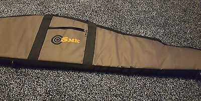 SMK Air Gun Rifle Slip Padded Carry Case Shooting Canvas Bag Gunslip In Brown