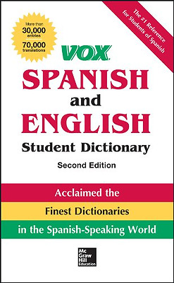 Vox Spanish and English Student Dictionary (Vox Diction - Hardcover NEW Vox (Aut