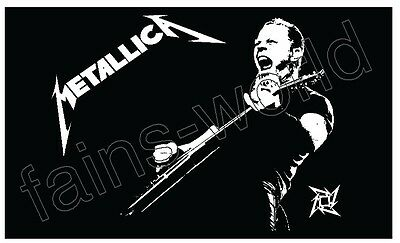METALLICA FLAG BANNER POSTER 3' X 5' james hetfield