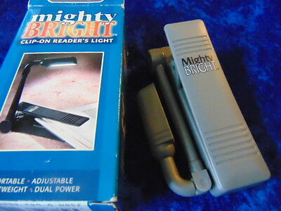 Clip-On Readers Light called Mighty Bright American Boxed Clamp on to a Book etc