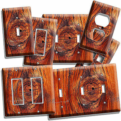 Rusted Old Wood Eye Rustic Light Switch Wall Plate Outlet Kitchen Log Cabin Art