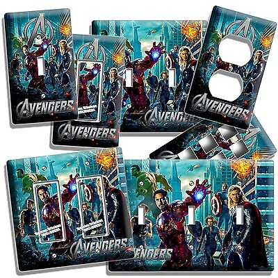 The Avengers Hulk Iron Man Thor Light Switch Wall Plate Outlet Boys Room Decor