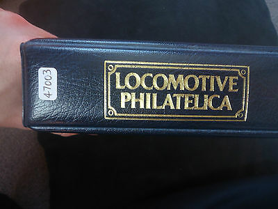 locomotive philatelica album 1829-1983 200+ double train stamps MNH