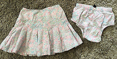 Baby Gap Toddler Girls 18-24 Months Floral Print Pleated Skirt