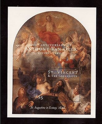 St.vincent & The Grenadines 2000 #2771 S/s Mint Nh, Anthony Van Dyck Painting !!