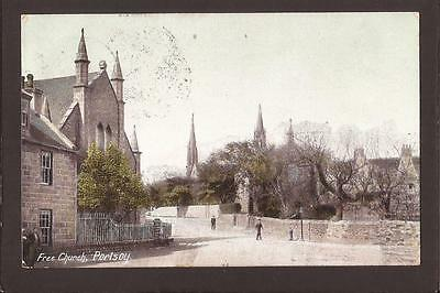 Portsoy. Free Church and Street. 1907.