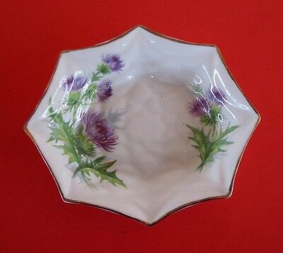 Vintage Royal Standard China 'Scots Emblem' Purple Scottish Thistle Pin Dish
