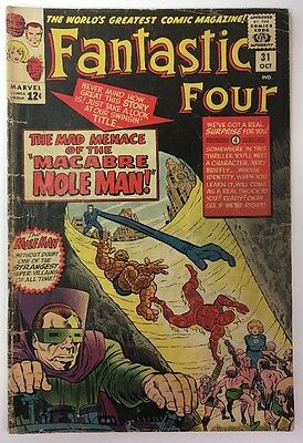 Fantastic Four #31 Marvel Comics 1964 Jack Kirby GD Early Avengers Crossover