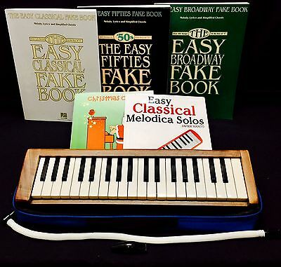 Mylodica Wooden Melodica Hand Made Wood Melodica Type Keyboard - Bundle