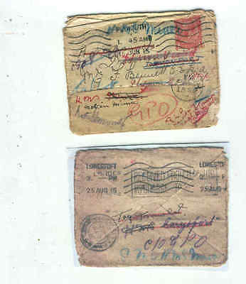 oldhal-England/WW1/Plymouth/Lots of postal marks/1915
