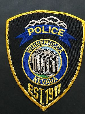 Winnemucca Nevada  Police  Shoulder  Patch