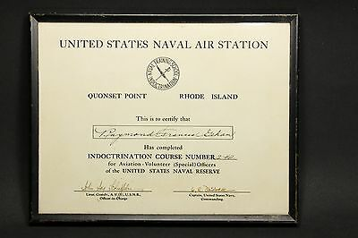 WWII Naval Air Station Quonset Point Indoctrination Aviation Pilot Certification